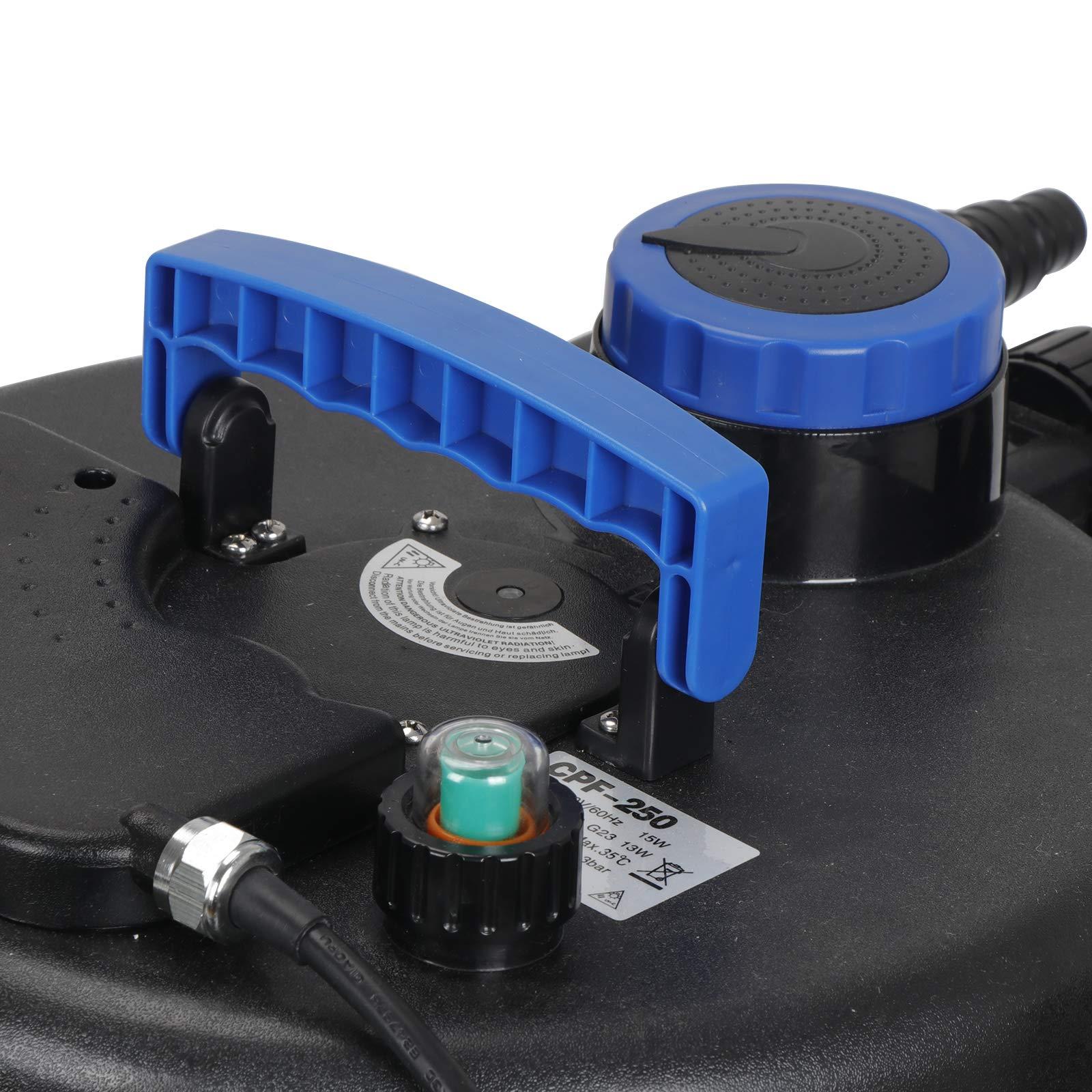 10000L Pond Pressure Bio Filter UV Sterilizer Water PurifierClarifier Koi Fish Ponds Skimmer With Ultraviolet Light& Flow Indicator for Aquarium,Algae Control by ZENSTYLE (Image #3)