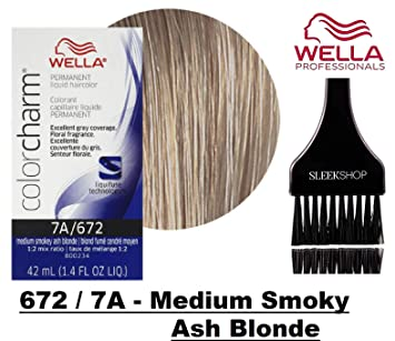 Wella Color Charm Permanent Liquid Haircolor W Sleek Tint Brush Excellent Gray Coverage