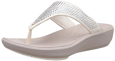 2f4fb4ca452b Clarks Women s Wave Dazzle White Slippers - 3.5 UK India (36 EU ...
