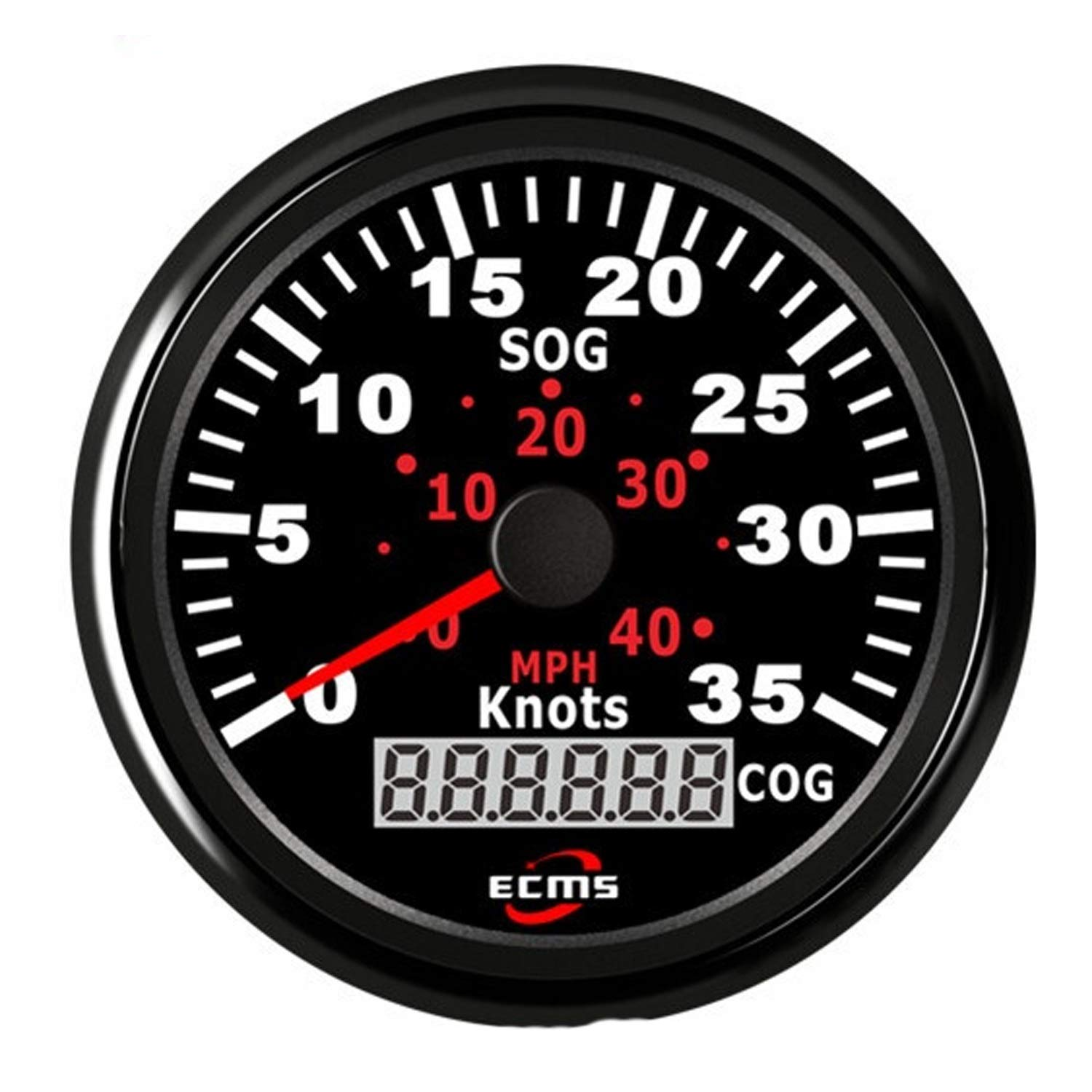 JUNJIAGAO-gauge Low Power Consumption GPS Speedometer Odometer 0-35Knots 0-40MPH for Boat Yacht Vessels with Backlight 3-3/8''(85mm) 12V/24V, Waterproof, Lightning-Proof by JUNJIAGAO-gauge