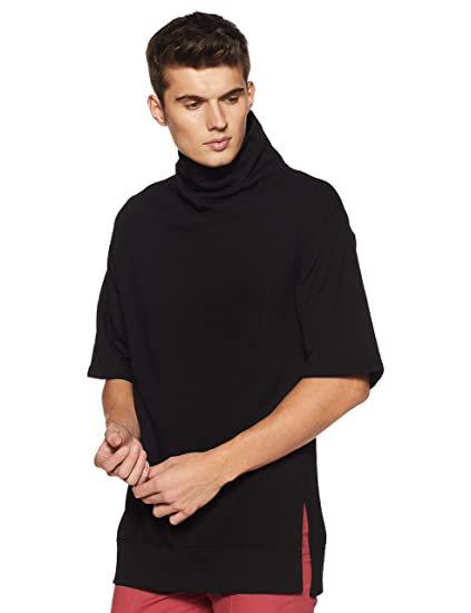 Forever 21 Men S Oversized Turtleneck Pullover 267939 Small Black