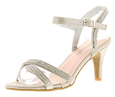 51f5914da8c Comfort Plus Charlotte Womens Ladies Heeled Sandals Silver - Silver - UK  Size 5