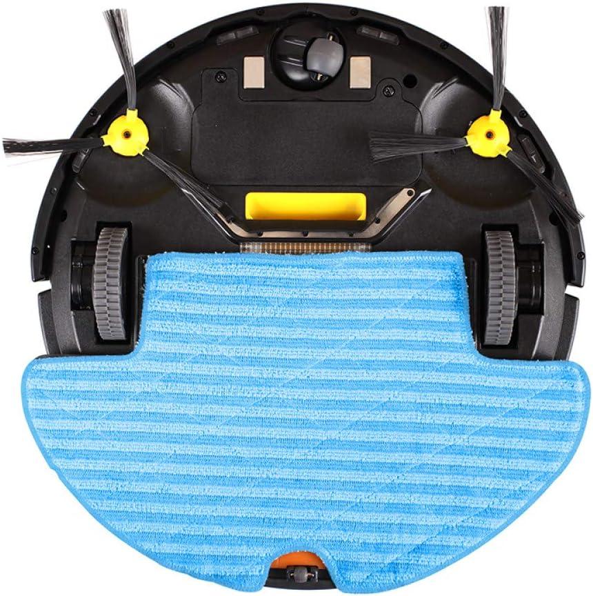 ZLAHY Robot de balayage Robot Aspirateur Bloqueur Virtuel Humide et Sec Réservoir d\'eau Gyroscope de recharge à distance Lithium-ion, Noir Noir