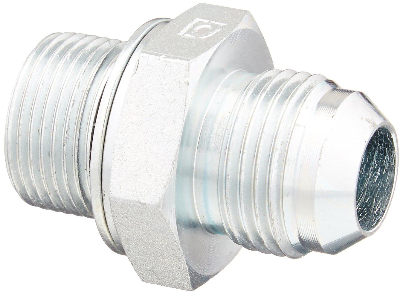 Eaton Aeroquip GG108-NP10-22 Male JIC to Male Straight Thread Connector, Metric, JIC 37° & Metric End Types, Steel, 7/8 JIC(m) x M22(m) End Size, 5/8'' Tube OD