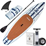"""TOWER Inflatable 10'4"""" Stand Up Paddle Board - (6 Inches Thick) - Universal SUP Wide Stance - Premium SUP Bundle (Pump…"""