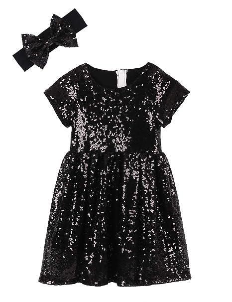 Amazon.com: Cilucu - Vestido de lentejuelas para niña: Clothing