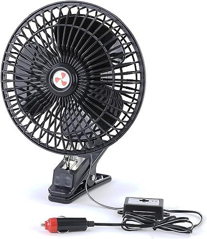 Ventilador 12 V con pinza, para coche, camping, barco, encendedor ...