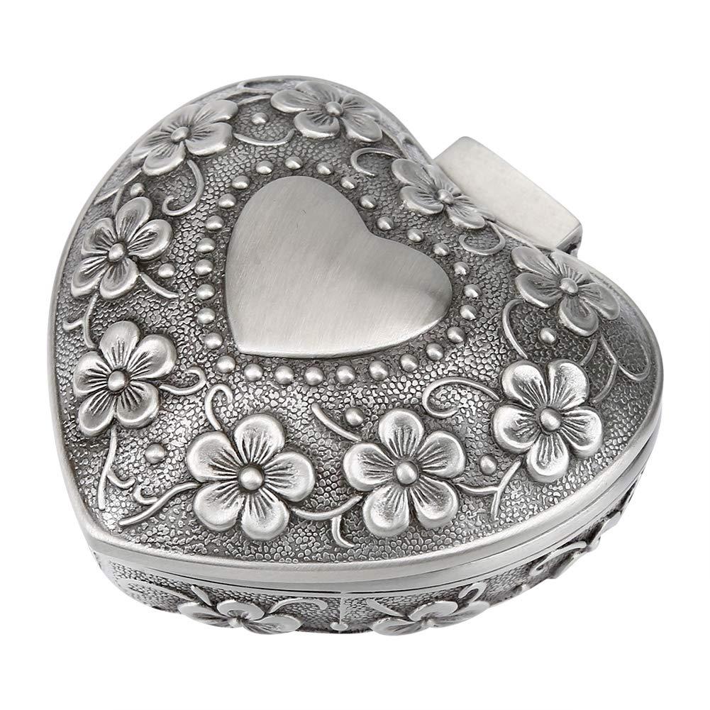mujeres Caja de regalo de joyería abalorio collar pendientes anillo de caja de almacenamiento