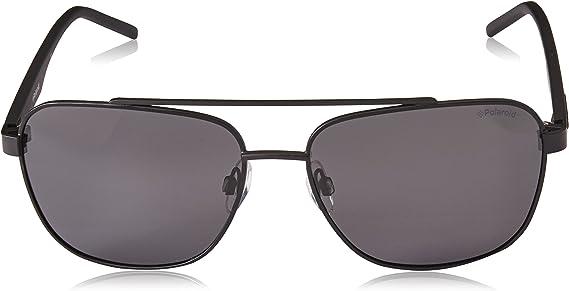 POLAROID metal Ruthenium Black Sunglasses Green Polarized Lenses PLD2044 6LB
