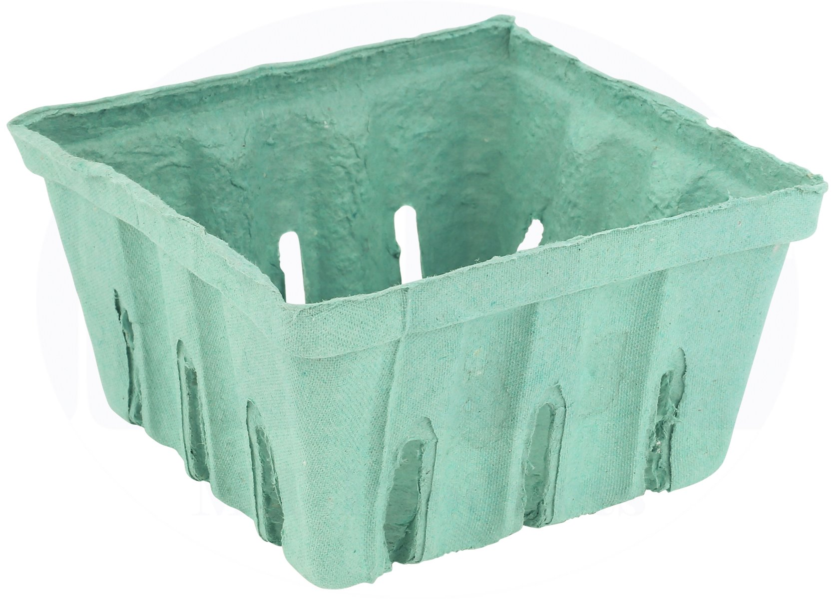 Green Molded Pulp Fiber Berry/Produce Vented 1 Quart Basket/Container by MT Products - (15 Pieces)