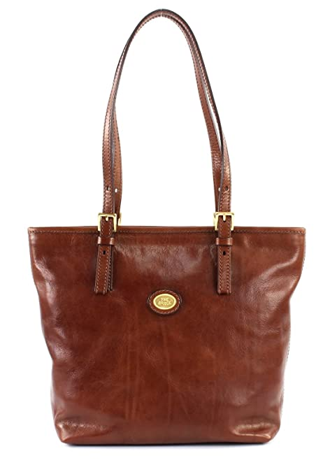 Marrone The 0490150114 Donna In Story Bridge Borsa Shopper Pelle nm0wN8 fea03ccb3d9