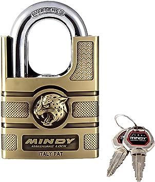 Mindy cerradura con llaves candado de llave diferentes, 1 Pack, de aleación de zinc AF16 – 50: Amazon.es: Bricolaje y herramientas
