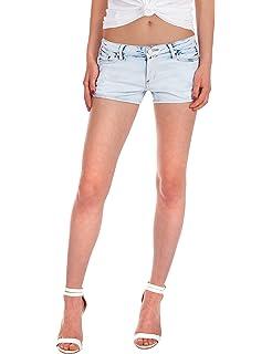 Fraternel Damen Jeans Hotpants Shorts Hellblau S   36  Amazon.de ... 40e7ae8505