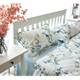 Garden Chinoiserie Floral Duvet Quilt Cover Asian Porcelain Style Tree Blossom and Birds Blue and White Watercolor…