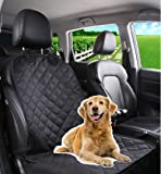 Tech Traders® Waterproof Front Seat cover for Dog Pet With Nonslip Rubber Backing Front Seat Protection for All type of vehicles Cars, Trucks & SUVs,Weather Proof,Easy to Clean,Durable Quality with Seat Belt Anchor