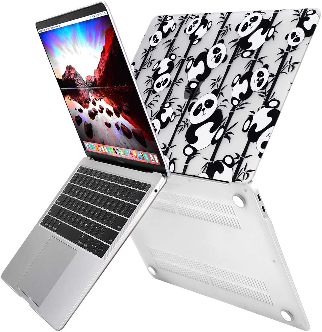 Cute Panda MOSISO MacBook Air 13 inch Case 2020 2019 2018 Release A2179 A1932 Retina Display Plastic Pattern Hard Shell /& Keyboard Cover /& Screen Protector Only Compatible with MacBook Air 13