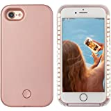iPhone 8 plus Led Case - Avkkey iPhone 8 plus Selfie Light iPhone Case Great for a bright Selfie and Facetime Illuminated Light Up Case Cover for iPhone 7 plus 5.5'' - Rose Gold