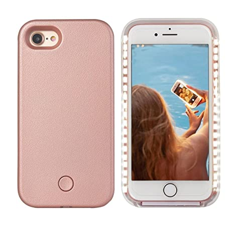 iPhone 8 Plus Led Case - Avkkey iPhone 8 Plus Selfie Light iPhone Case Great for a Bright Selfie and Facetime Illuminated Light Up Case Cover for ...