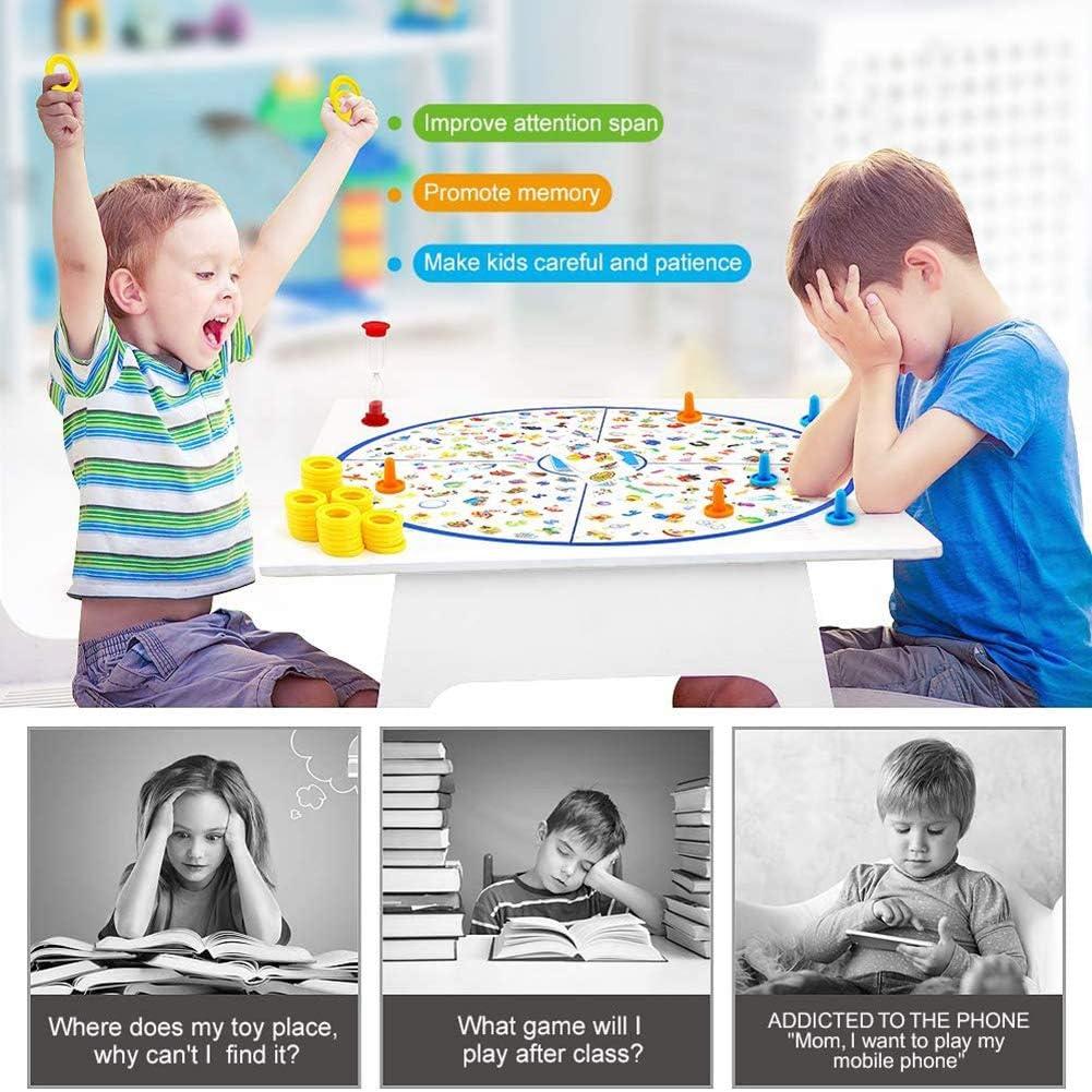 CXD Juego Mesa, Juegos educativos Juegos Mesa pequeño Detective para niños Juguetes para Juegos Juego Regalo niños A Partir de 3-9 años de Edad los niños y niñas Infantiles,1: Amazon.es: Hogar