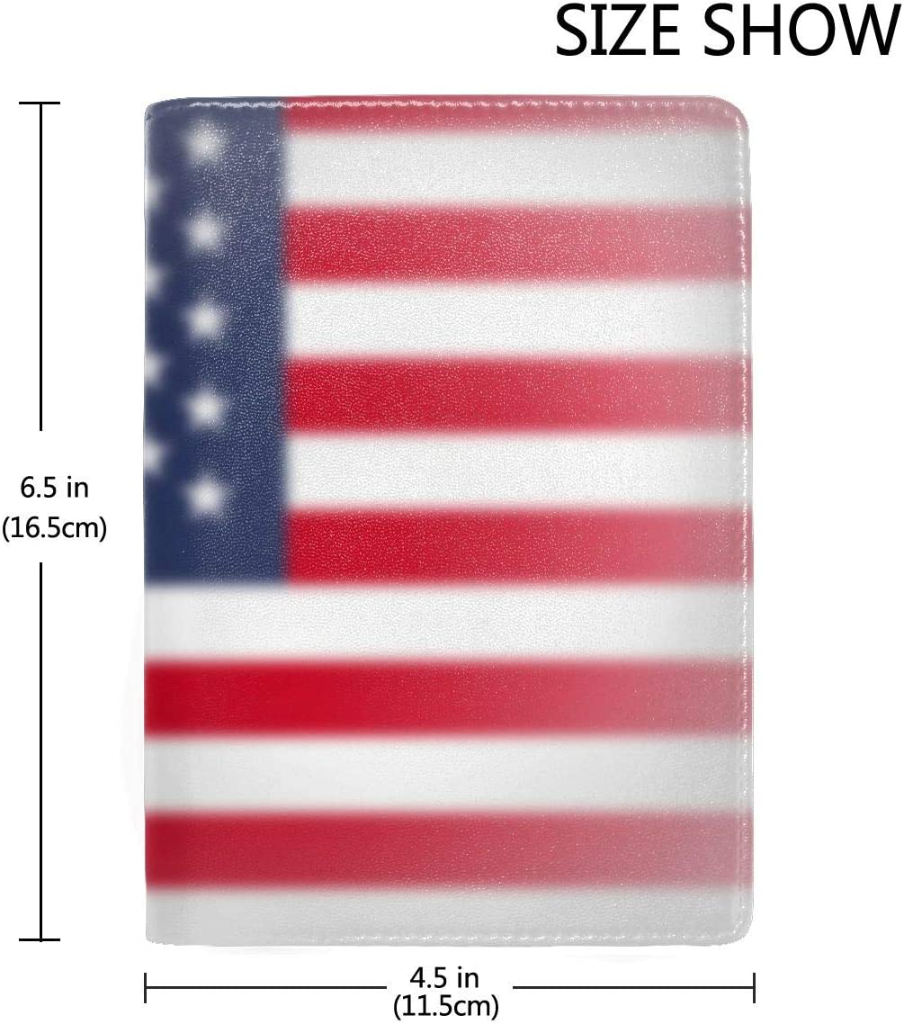 Peace Flag Of Usa Fashion Leather Passport Holder Cover Case Travel Wallet 6.5 In