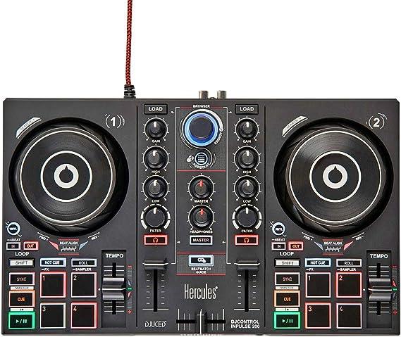 Hercules DJControl Inpulse 200 - Mesa de mezclas para DJ (2 ...