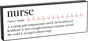 Elanze Designs Nurse Definition 8 x 3 Wood Double Sided Table Top Sign Plaque