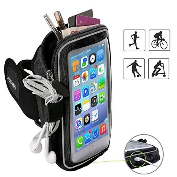 Popular Brand Gym Sports Running Armband For Iphone X Xs 5 Se 6 6s 7 8 Plus Mobile Phone Arm Bag Pouch Belt Wristband For Smartphone Below 6 Mobile Phone Accessories Cellphones & Telecommunications