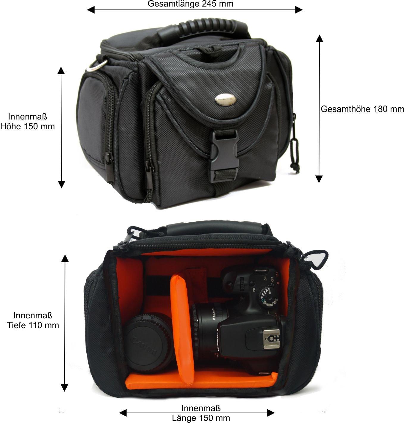 Bolsa para cámara réflex y sistema de cámara, negro / orange ...
