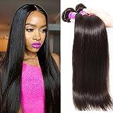 Julia Hair 3 Bundles 10A Brazilian Virgin Straight Hair Weft 100% Unprocessed Human Hair Weft Extensions