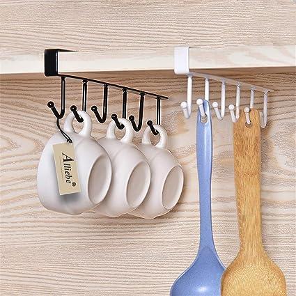 Amazon.com - Alliebe 2pcs Mug Cups Wine Gles Storage Hooks ... on under cabinet utensil hangers, under cabinet knife blocks, kitchen wall racks, under cabinet pot and pan hanger,