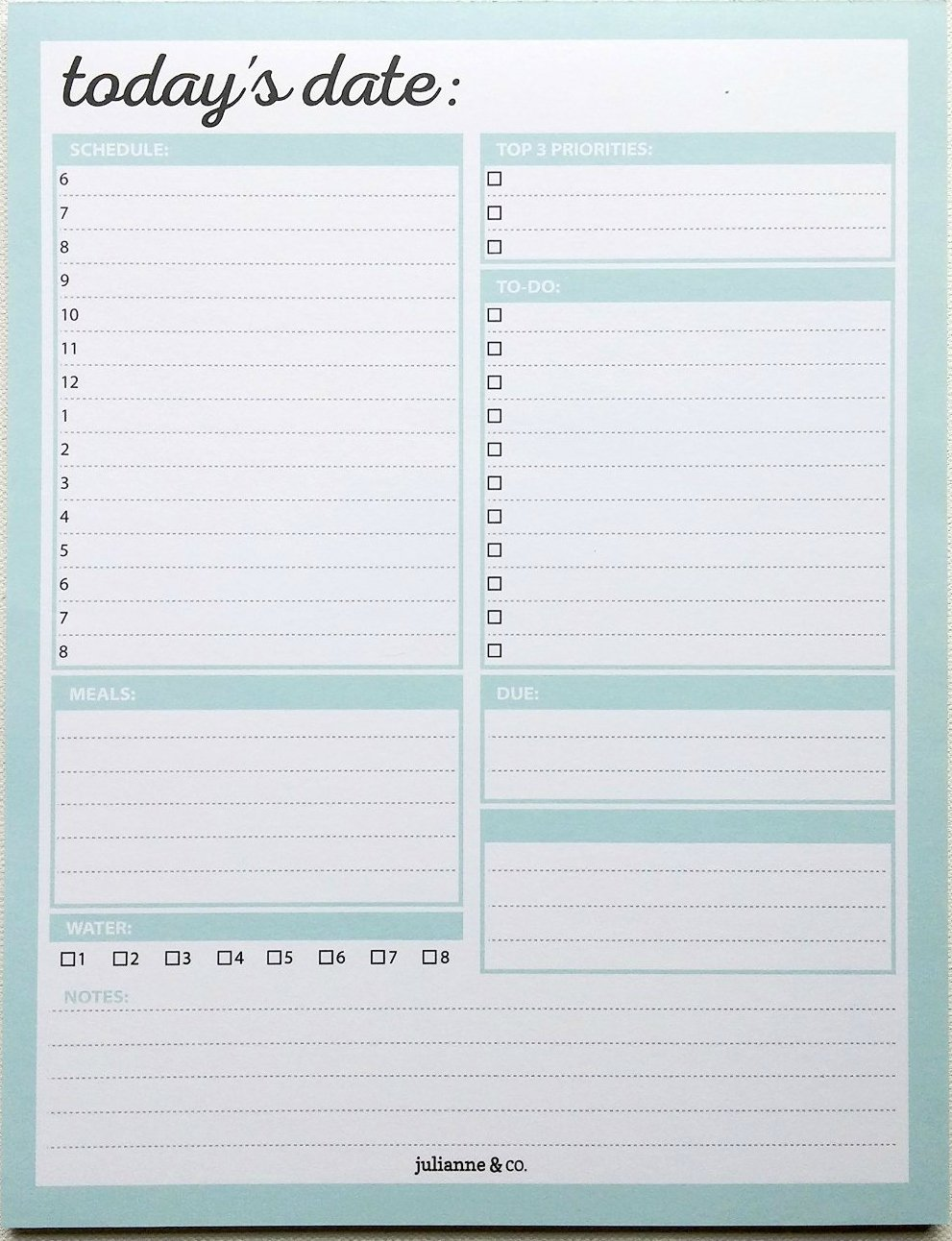 Daily To-Do List Notepad and Planner