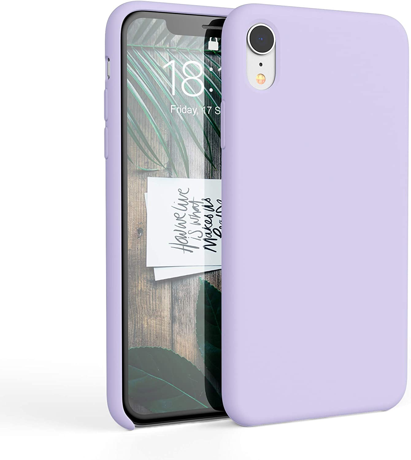 honua. Silicone Case for iPhone XR, Soft and Protective iPhone Case with Microfiber Lining, Compatible with Apple iPhone XR 6.1 inch (Lavender Purple)