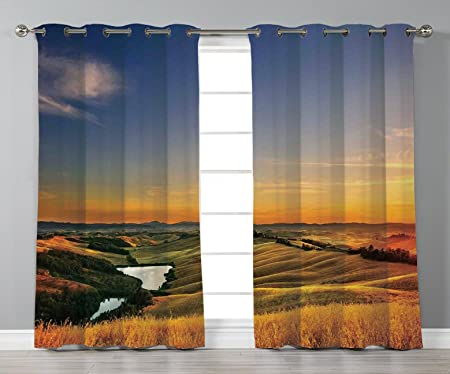 Satin Grommet Window Curtains Tuscan Decor Magical Photo Of