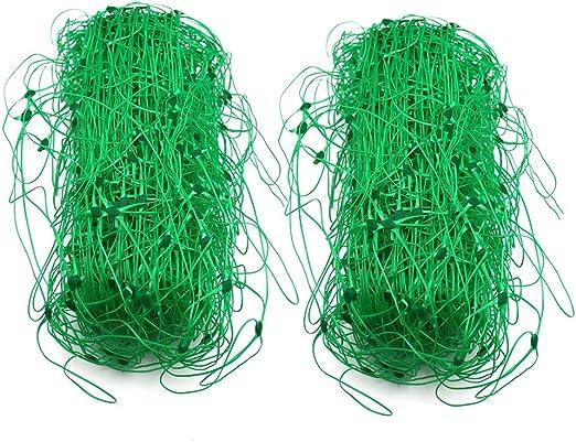 2 piezas 1, 7 x 4 m red plástica de guisantes, red de jardín verde ...