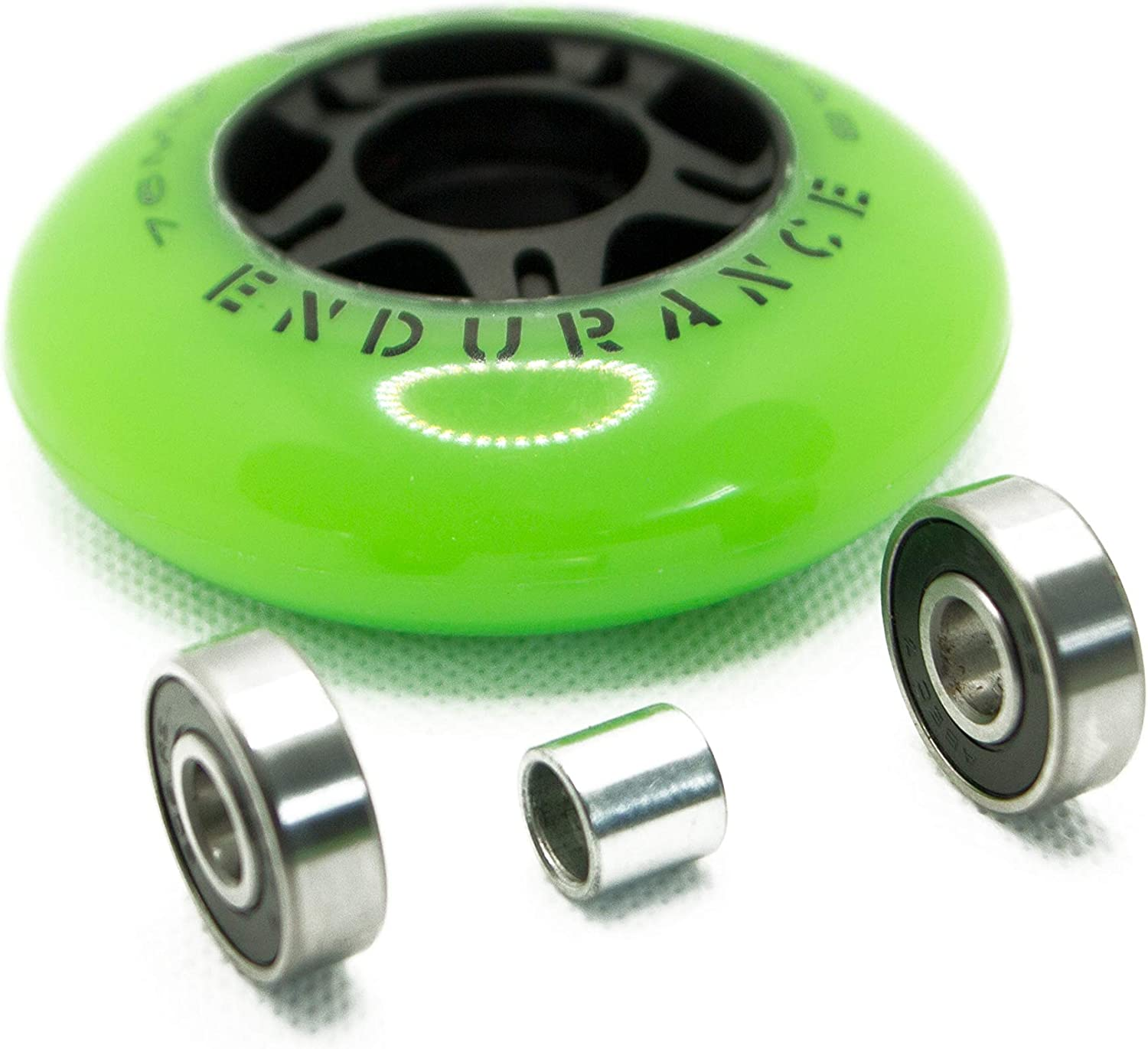 Razor Ripsurf Performance Caster Board Replacement 68mm 76mm 80mm 90a with ABEC 7 Speed Bearings 2 Pack Set of Two Ripstick Luggage Scooter Inline Ripstik Wheels by KBS