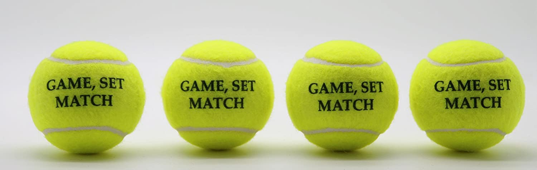 Price/Ís Game Set Match Tennis Balls 1 x 4 Ball Tube Type 2 Balls Made in the UK