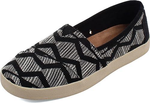 TOMS - Alpargatas para Mujer Black Tribal: Amazon.es: Zapatos y complementos