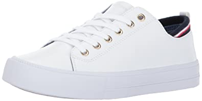 fbbf18d5f2f9 Tommy Hilfiger Women s Two Sneaker White 5 Medium US