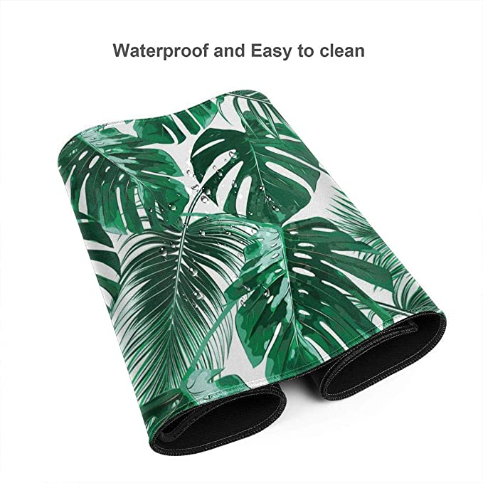 Pinapples and Tropical Flowers Background Vintage Seamless Pat Custom Design Stitched Edges Waterproof Non-Slip Rubber Base Mousepad 35.4 x 15.7 NO-65758 Homenon Professional Gaming Mouse Pad
