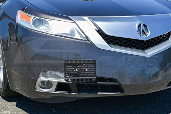 EOS Plate For 09-14 Acura TL Front Bumper Tow Hook License Plate Mount Bracket