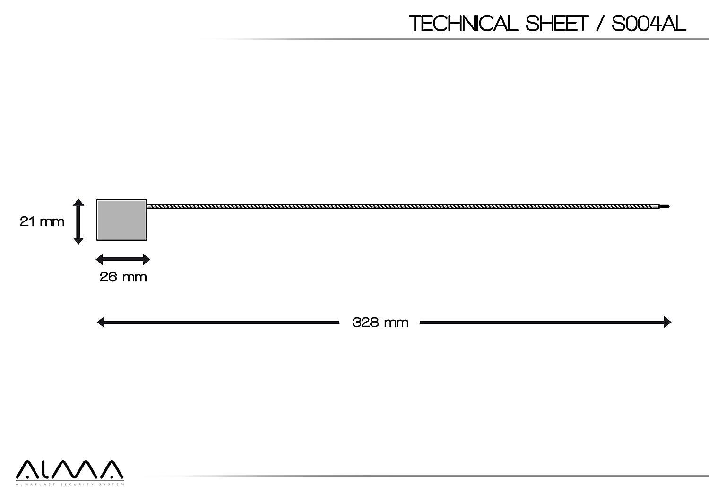 /Élev/ée garantie de d/ét/érioration Personnalis/é avec num/érotation progressive Corps en aluminium C/âble en acier de 1,5/mm 50/sceaux de s/écurit/é /à c/âble m/étallique