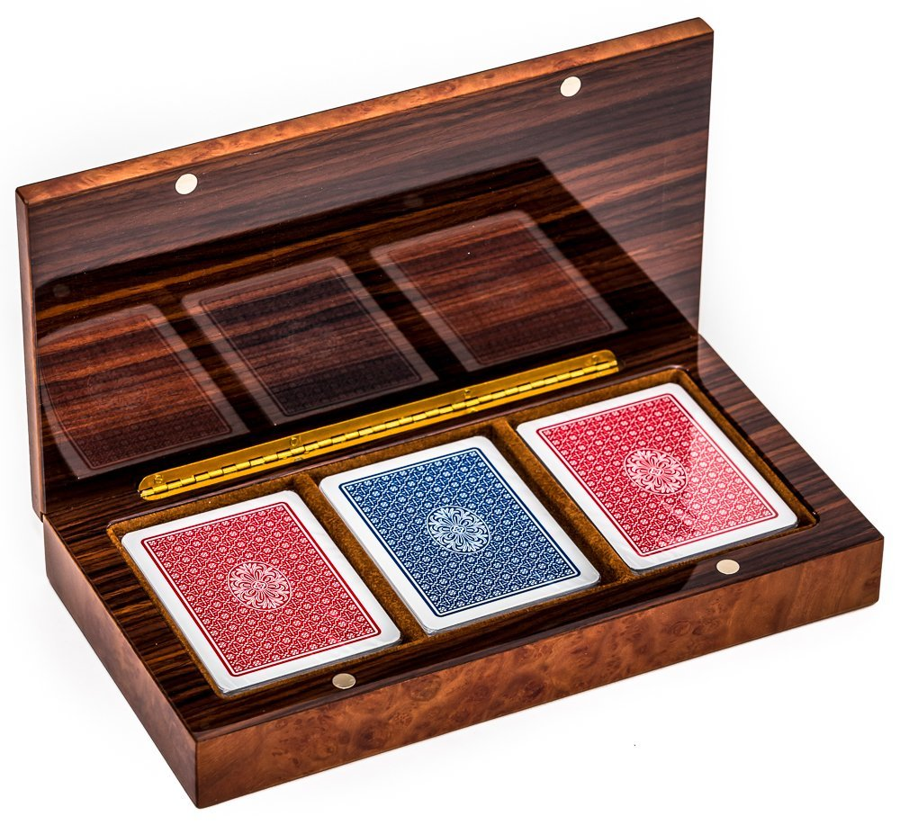 Bello Games Collezioni - Niccolino Luxury Briar Wood Card Case. Made in Italy