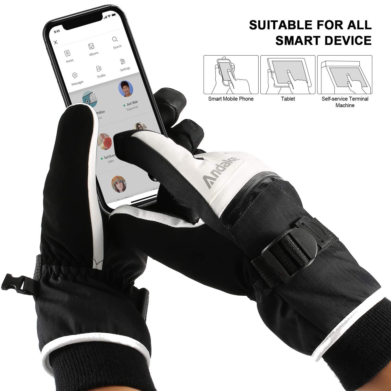 esquiar ciclismo actividades al aire libre guantes de ciclismo antideslizante CosyInSofa Guantes t/érmicos impermeables,a prueba de viento pantalla t/áctil ciclismo