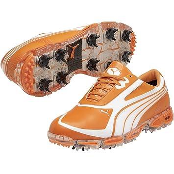 99a3f42509d848 Puma Mens AMP Cell Fusion SL Golf Shoes (Orange