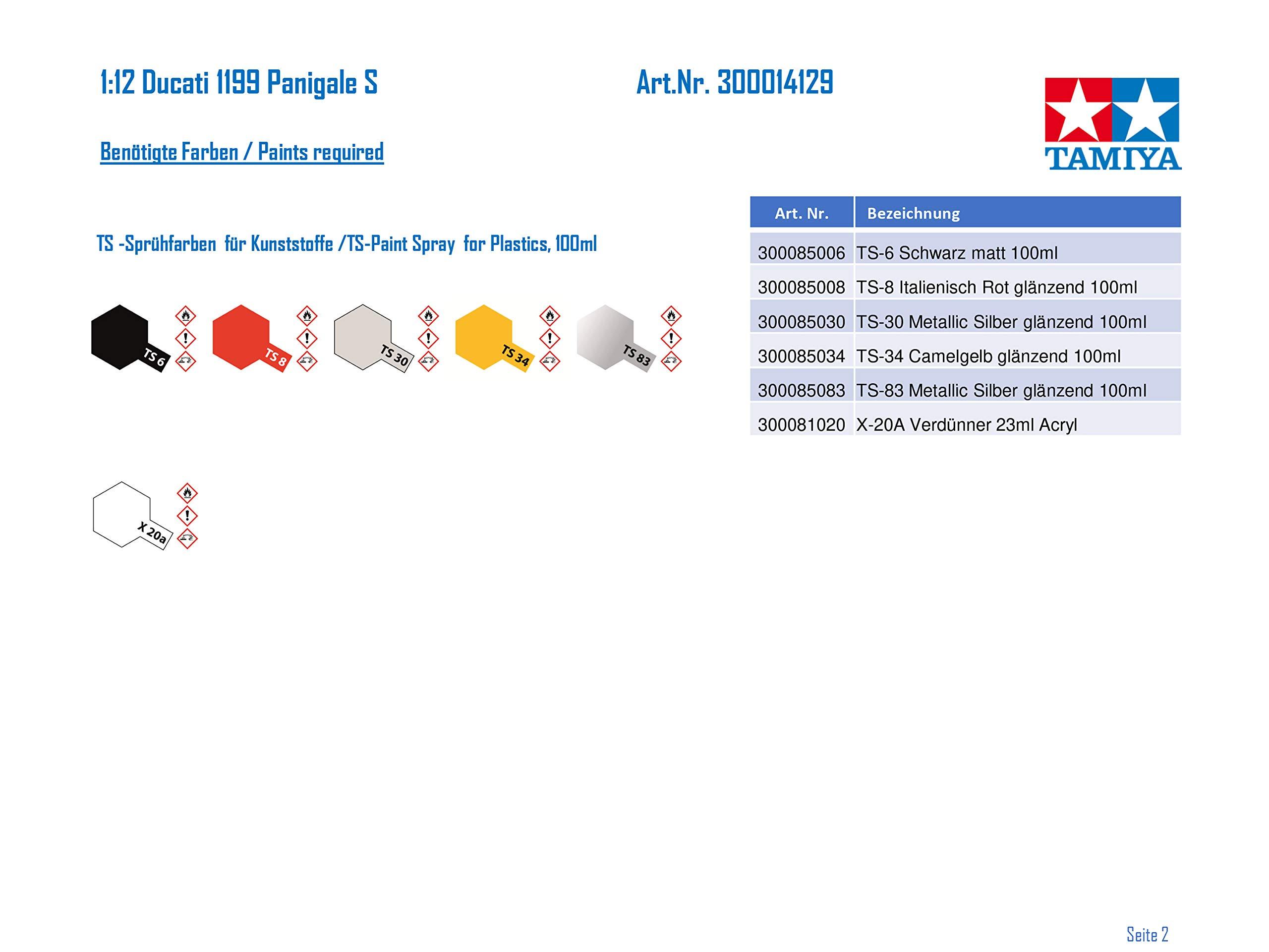 Tamiya 14129 1:12 Ducati 1199 Panigale S Model 4