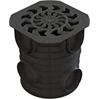 Arqueta 25x25cm redonda con tapa de plastico