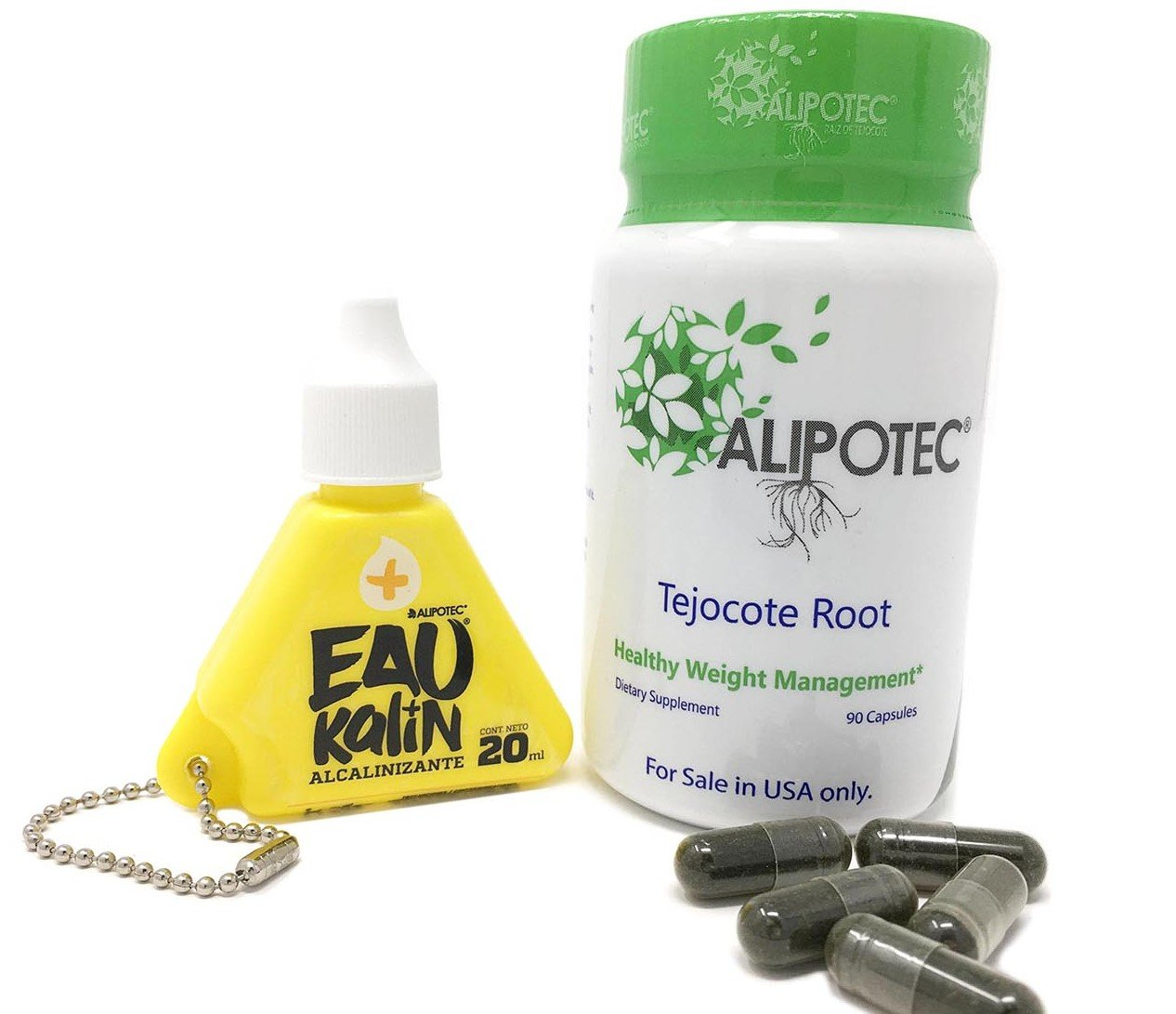 Alipotec Capsules Tejocote Root Supplement Capsulas Alipotec Raiz de Tejocote 90 Day Supply and Eau Kalin