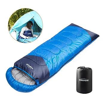 Overmont Saco de dormir momia ligero tres estaciones impermeable contraviento con capucha para camping senderismo montañismo excursión(Dos diferentes ...