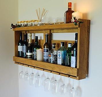Pallet - Estante para whisky de vino (madera reciclada)