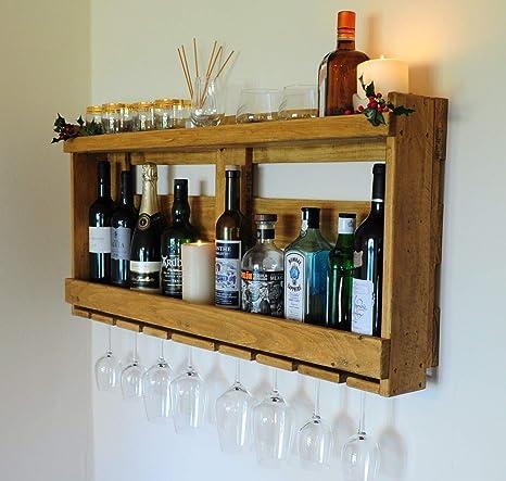 Pallet - Estante para whisky de vino (madera reciclada ...